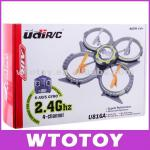 UDI Upgrade Version U816A 4CH 2.4GHZ 3D 4-Axis RC Helicopter Built-in Gyro Quadcopter UFO Radio Controlled RC Aircraft