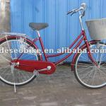 Red high carbon-stell with basket Cheap 26'' City bike/bicycle-DE-110