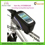 2014 popular cheap Design Large Waterproof ployester bicycle bag for iPhone, durable Bike saddle bag factory-HYDWBK248